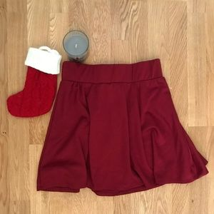 Deep Red Mini skirt